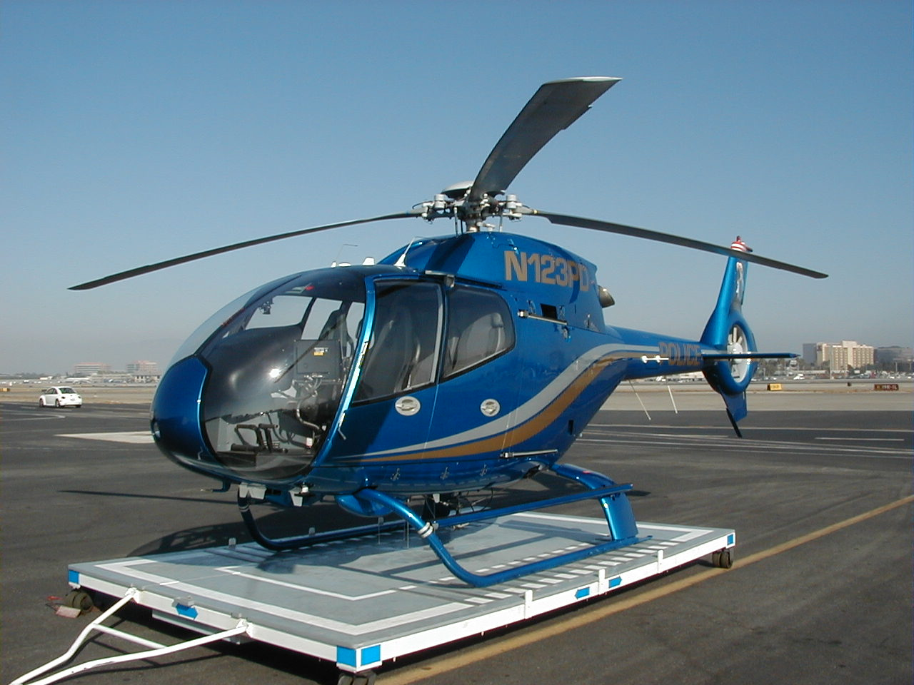 Helispot Photo #3655 : Eurocopter EC120B Colibri : N123PD : Costa Mesa/Newport Beach Police Department