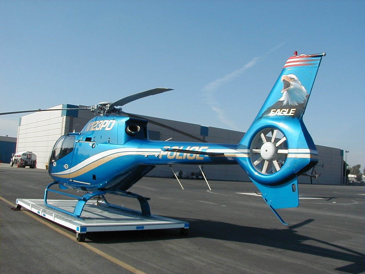 Helispot Photo #3657 : Eurocopter EC120B Colibri : N123PD : Costa Mesa/Newport Beach Police Department